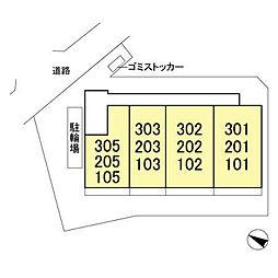 (仮)D-room飯山満町 A[303号室]の外観