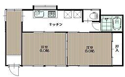 及川アパート(スムースリー)[2階]の間取り