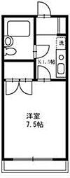 東京都町田市玉川学園5の賃貸アパートの間取り