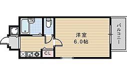プレサンス阿倍野阪南町[304号室]の間取り