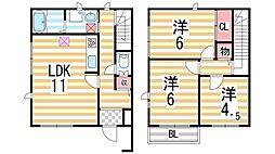 [テラスハウス] 大阪府大東市谷川1丁目 の賃貸【/】の間取り