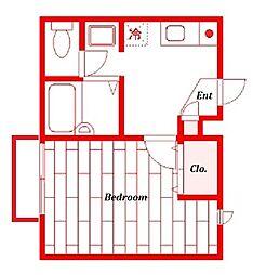 パセオリレント[2階]の間取り