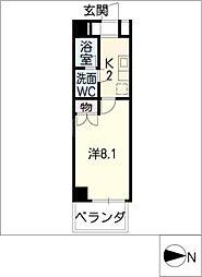 AMBER HOUSE[10階]の間取り