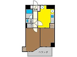 神奈川県茅ヶ崎市共恵1丁目の賃貸マンションの間取り