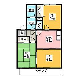ソシア204[2階]の間取り
