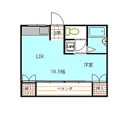 桜井ビル[205号室]の間取り