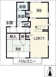 フォレストタウンE棟[1階]の間取り
