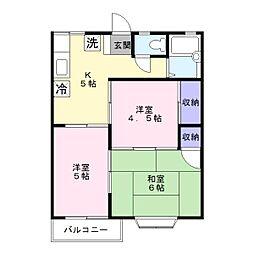 ルミエール湘南 ステージ4[2階]の間取り
