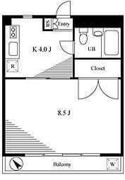 e-River Chofu[3階]の間取り