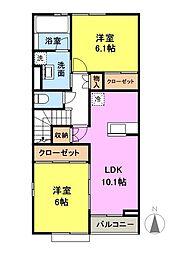 グラナート[2階]の間取り