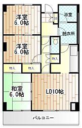アパートメントバラヤマ[3階]の間取り