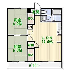 岡田マンション[0201号室]の間取り