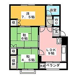 浅野第2ビル[3階]の間取り