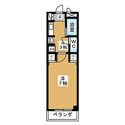 アムール大崎[-4階]の間取り