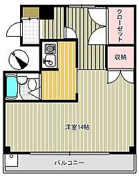 柿の木坂アサヒハイツ[3階]の間取り