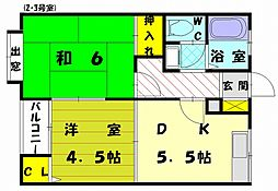 エトワール古賀[2階]の間取り