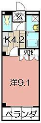 シェレン・バウム・F[105号室]の間取り