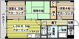 クラウンハイム菅原[3階]の間取り