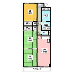 ベルビレッジ上汐田[4階]の間取り