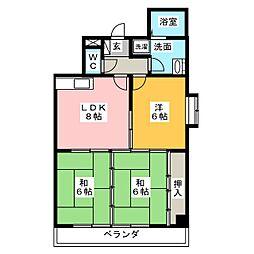ニシワキビル[2階]の間取り