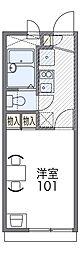 大阪モノレール本線 南摂津駅 徒歩20分の賃貸アパート 1階1Kの間取り