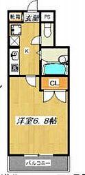 サンライズ大和田[20c号室]の間取り