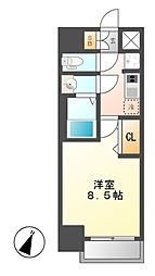 仮)プレサンス大曽根駅前ファースト[8階]の間取り