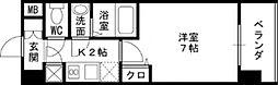 レジュールアッシュ梅田WEST GATE[1101号室]の間取り