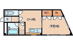 平田マンション[303号室]の間取り
