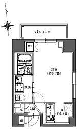 S-RESIDENCE東神田 2階ワンルームの間取り