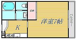 東京都世田谷区上祖師谷7丁目の賃貸マンションの間取り