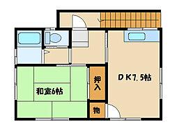 吉川アパート[2階]の間取り