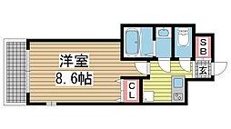 神戸・山手アパートメント[1階]の間取り