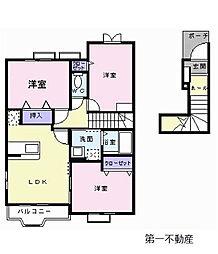 カモミールIII B[2階]の間取り