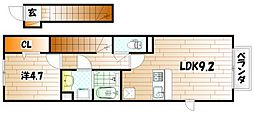 ロザII B棟[2階]の間取り