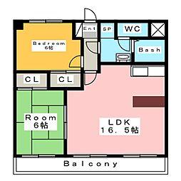 ボヌールM[2階]の間取り