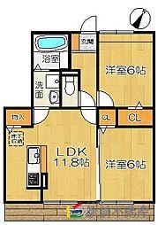 (仮)D-room兵庫北二丁目[1階]の間取り