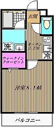 フロンテラ北栄[1階]の間取り