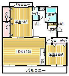 原田マンション[102号室]の間取り