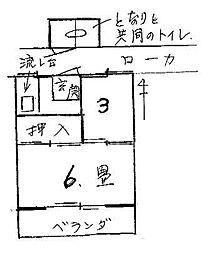 銀山ハウス[8号室号室]の間取り