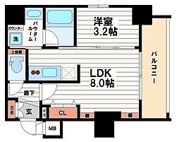 レオンコンフォート本町東3[6階]の間取り