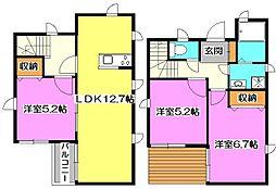 [一戸建] 東京都西東京市下保谷1丁目 の賃貸【/】の間取り