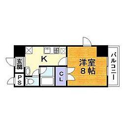 ヴェリッシモ芥川[205号室]の間取り