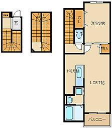 グラウクス[3階]の間取り