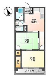 山田コーポラス[2階]の間取り