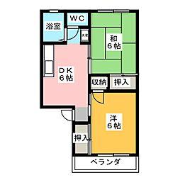プレジール松浦[1階]の間取り