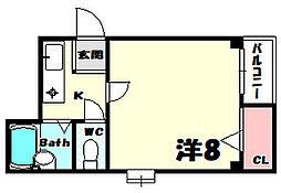 兼山マンション[3階]の間取り