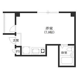 シャルム富士[4階]の間取り