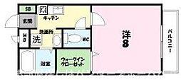 大阪府枚方市伊加賀本町の賃貸アパートの間取り