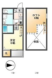 LALA FLAT ATSUTA KIRITOCHOU[1階]の間取り